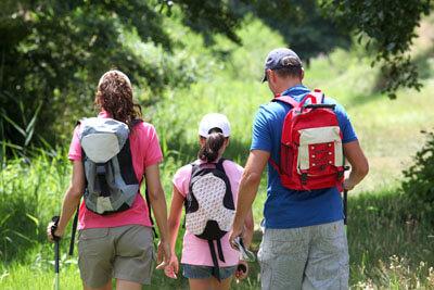 Familie wandert